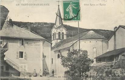 """/ CPA FRANCE 01 """"Saint Germain de Joux, hôtel Egraz et l'église"""""""