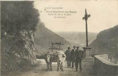 """/ CPA FRANCE 01 """"Saint Rambert en Bugey, route du Mont Griffon, le calvaire"""""""