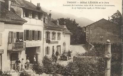 """/ CPA FRANCE 01 """"Thoiry, hôtel léger et le Jura"""""""