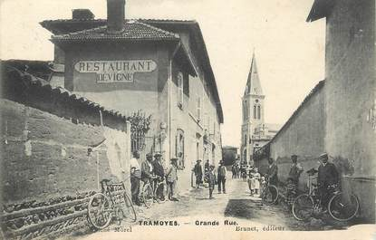 "/ CPA FRANCE 01 ""Tramoyes, grande rue"""