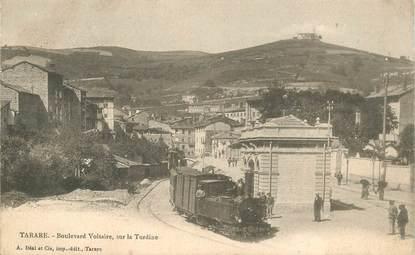"""CPA FRANCE 69 """"Tarare, Boulevard Voltaire, sur la Turdine"""" / TRAIN"""