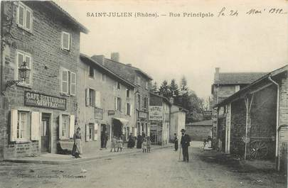 "CPA FRANCE 69 ""Saint Julien, rue Principale"""