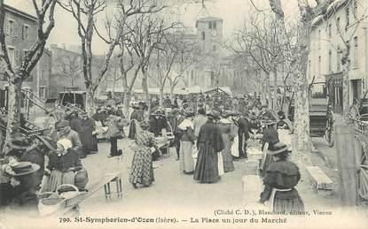 """CPA FRANCE 69 """"Saint Symphorien d'Ozon, la Place un jour de Marché"""""""