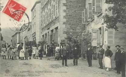 """CPA FRANCE 69 """"Saint Didier sous Riverie, rue principale"""""""