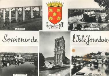 """/ CPSM FRANCE 86 """"Souvenir de L'Isle Jourdain"""""""