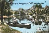"""86 Vienne / CPSM FRANCE 86 """"La Roche Posay les Bains, reflets sur la Creuse"""" / PÊCHE"""