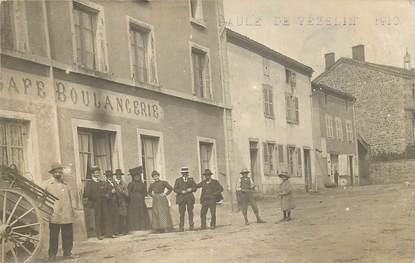 "CARTE PHOTO FRANCE 69 ""Vézelin, Café Boulangerie, 1910"""