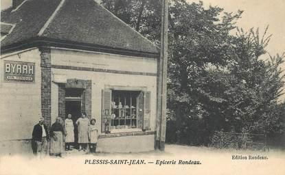 """CPA  FRANCE 89 """"Plessis Saint Jean, Epicerie Rondeau"""""""