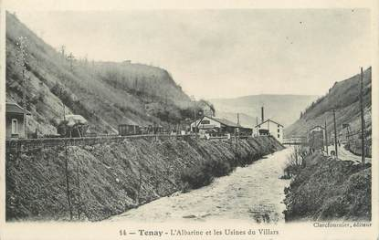 "/ CPA FRANCE 01 ""Tenay, l'Albarine et les usines du Villars"""