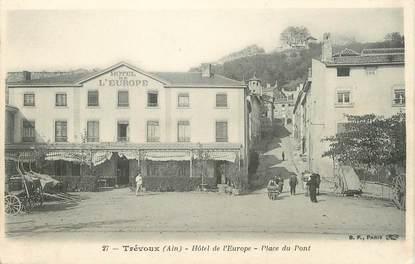 """/ CPA FRANCE 01 """"Trévoux, hôtel de l'Europe"""""""
