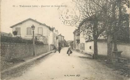 """/ CPA FRANCE 01 """"Trévoux, quartier de Saint Sorlin"""""""