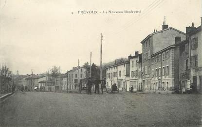 """/ CPA FRANCE 01 """"Trévoux, le nouveau boulevard"""""""