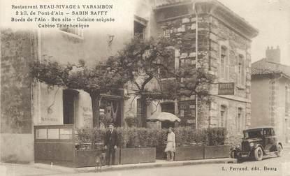 """/ CPA FRANCE 01 """"Restaurant Beau Rivage à Varambon"""""""