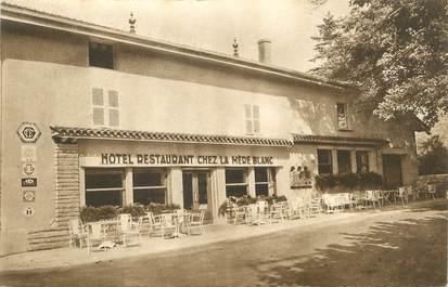 """/ CPA FRANCE 01 """"Vonnas, hôtel restaurant chez La Mère Blanc"""""""