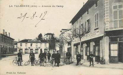 "/ CPA FRANCE 01 ""La Valbonne, av du camp"""