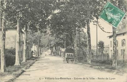 """/ CPA FRANCE 01 """"Villars les Dombes, entrée de la ville"""""""