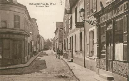 "/ CPA FRANCE 94 ""Villecresnes, grande rue"""