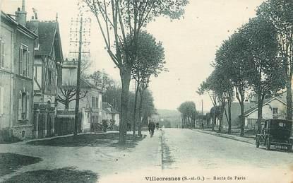 """/ CPA FRANCE 94 """"Villecresnes, route de Paris"""""""