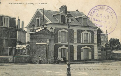 """/ CPA FRANCE 94 """"Sucy en brie, la mairie"""""""