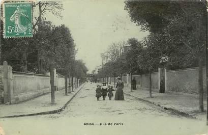 """/ CPA FRANCE 94 """"Ablon, rue de Paris"""""""