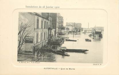"""/ CPA FRANCE 94 """"Alfortville, quai de la Marne"""""""