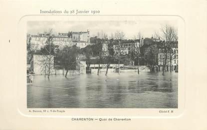 "/ CPA FRANCE 94 ""Charenton; quai de Charenton"""