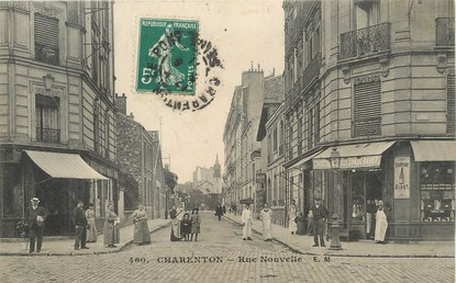 "/ CPA FRANCE 94 ""Charenton, rue nouvelle"""