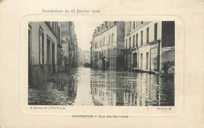 """/ CPA FRANCE 94 """"Charenton, rue des carrières"""""""