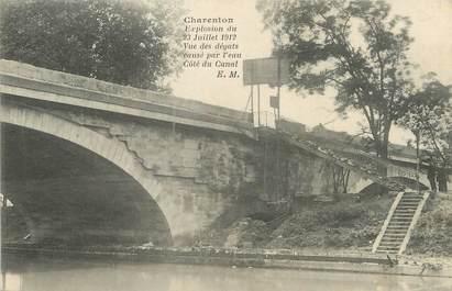 "/ CPA FRANCE 94 ""Charenton, explosion du 23 juillet 1912"""