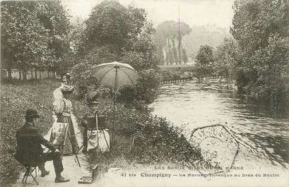 "/ CPA FRANCE 94 ""Champigny, la Marne pittoresque au bras du moulin"""