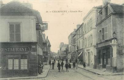 "/ CPA FRANCE 94 ""Champigny, grande rue"""