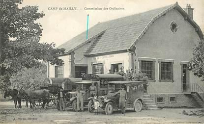 "CPA  FRANCE 10 ""Camp de Mailly, commission des Ordinaires"" / AUTOMOBILE"