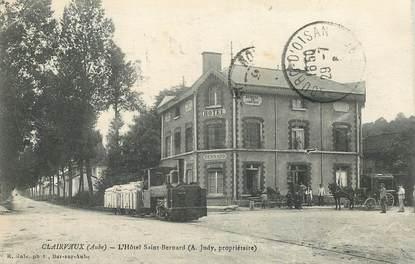 """CPA  FRANCE 10 """"Clairvaux, Hotel Saint Bernard"""" / TRAIN"""
