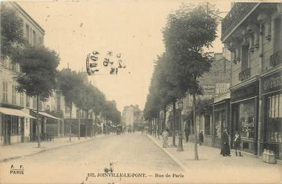 """/ CPA FRANCE 94 """"Joinville Le Pont, rue de Paris"""""""