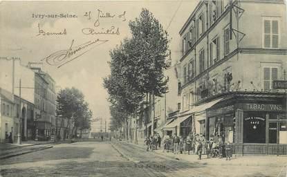"""/ CPA FRANCE 94 """"Ivry sur Seine, rue de Paris"""""""