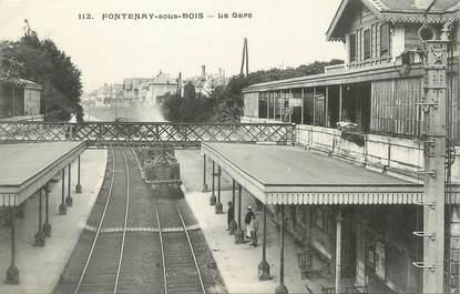 """/ CPA FRANCE 94 """"Fontenay sous Bois, la  gare"""""""