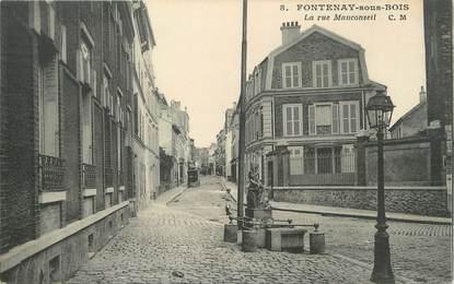 """/ CPA FRANCE 94 """"Fontenay sous Bois, la rue Mauconseil """""""
