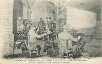 """CPA  FRANCE 11 """"Castelnaudary, Chateau des Cheminières, les caves souterraines"""""""