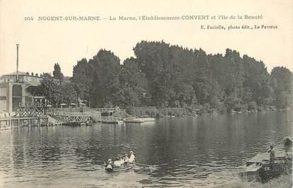 """/ CPA FRANCE 94 """"Nogent sur Marne, la Marne l'Etablissement Convert"""""""