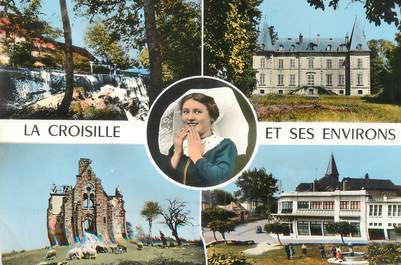 """/ CPSM FRANCE 87 """"La Croizille et ses environs"""""""
