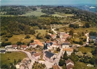 """/ CPSM FRANCE 87 """"Saint Sylvestre, vue aérienne sur l'église"""""""