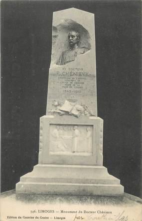 """/ CPA FRANCE 87 """"Limoges, monument du docteur Chénieux"""""""