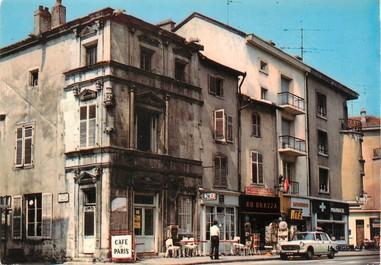 """/ CPSM FRANCE 88 """"Charmes, café de Paris"""""""