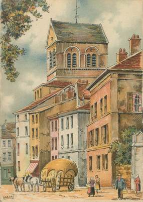 """/ CPSM FRANCE 88 """"Epinal, la rue Claude Gelée et la Basilique"""""""