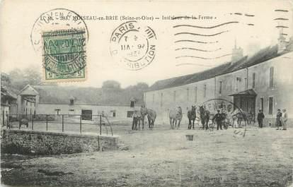 """/ CPA FRANCE 94 """"Noiseau en Brie, intérieur de la ferme"""""""