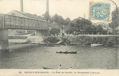 "/ CPA FRANCE 94 ""Neuilly sur Marne, le pont de Neuilly"""