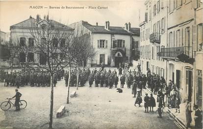 """CPA FRANCE 71 """"Mâcon, bureau de recrutement, Place Carnot"""""""