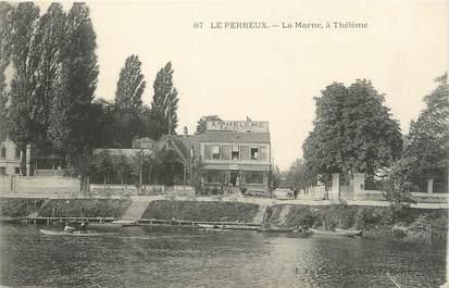 """/ CPA FRANCE 94 """"Le Perreux, la marne à Thélème"""""""