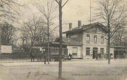 """/ CPA FRANCE 94 """"Saint Maur des Fossés, la gare du parc"""""""
