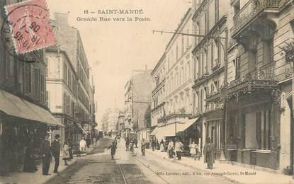 """/ CPA FRANCE 94 """"Saint Mandé, grande rue vers la poste"""""""